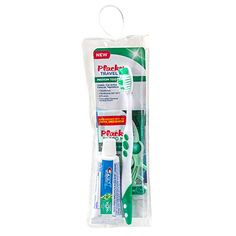 Plackers Travel Toothbrush with Crest Toothpaste