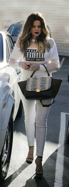 Khloe Kardashian's Alexander Wang Parental Advisory Sweatshirt