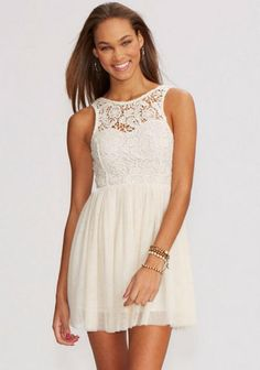 Nail the boho trend with crochet A dress with a pretty crochet neckline is super sweet for summer