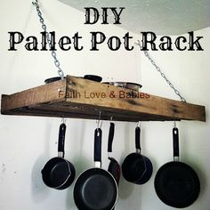 Ana White | Build a DIY Pallet Pot Rack - Feature by Faith Love and Babies | Free and Easy DIY Project and Furniture Plans