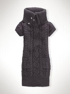 cowl-neck cable dress. ralph lauren.