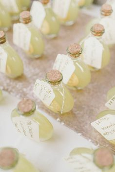 Featured Photographer: Michelle Lange; Soft Pink and Gold New York Wedding at Highlands Country Club. - wedding favor idea