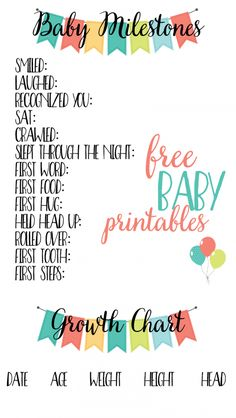 Track your little one's milestones with these free baby printables. Download and print to create your own baby album.