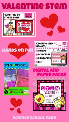 Valentine's Day is a perfect opportunity to add STEM to your school day! Kinds will LOVE working with their friends as they learn problem solving skills as well as hands on challenges! Science Resources, Science Ideas, Science Lessons, Elementary Science, Elementary Teacher, Science Activities, Winter Activities, Science Stations