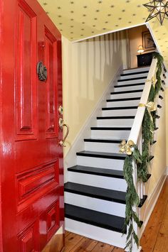 Original 1832 door, staircase, and pine floors in this Pompey colonial.