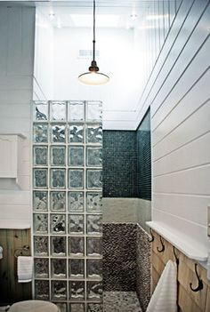 Glass Block Walk In Shower Design Ideas, Pictures, Remodel and Decor