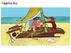 Marék Veronika meséjében Harcsabajusz kapitány egy tanoncot vesz maga mellé. A Matrózmajomnak rengeteg tanulnivalója akad: meg kell tanulnia tengerészcsomót kötni, labdázik a delfinekkel, ráadásul még a távcsövet is meg kell ismernie! Végül csak igazi matróz lesz a kismajomból! Írta: Marék Veronika. Rajzolta: Richly Zsolt. A diafilm kódja: N0288 Verona, Wonder Woman, Marvel, Superhero, Fictional Characters, Art, Art Background, Kunst, Performing Arts