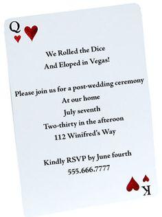 Casual Wedding Invitation Wording | The Wedding Specialists