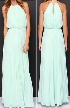 Fresh Style Halter Top Maxi Flowing Dress.