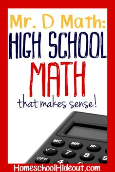 Mr. D Math makes high school level math more fun and a whole lot less scary! Online classes, live classes and thorough explanations makes sure you REALLY understand the concepts being taught!