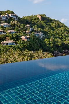The 78 Banyan Tree villas fan out down a hillside to the ocean like an exotic waterfall. #Jetsetter