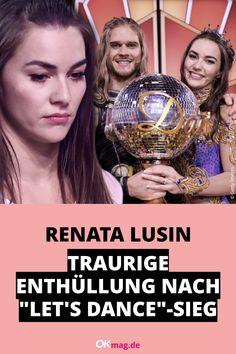 """Nach ihrem """"Let's Dance""""-Sieg mit Rúrik Gíslason überrascht Profi-Tänzerin Renata Lusin mit einer traurigen Beichte: Die letzten Wochen waren nicht einfach! Auch für ihre Ehe mit Valentin Lusin wurde der Konkurrenzkampf zur Belastungsprobe … #letsdance #rtl #okmag Lets Dance, Let It Be, Sad, Marriage, Simple"""