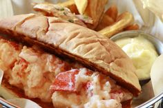 FRIDAY FRED PLATE SPECIAL: LOBSTER ROLL.  Griddled buttery roll | lobster | lemon aioli fingerling potato fries $20