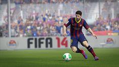 Messi in FIFA 14 -- 97 Attacker Rating 90 Creator Rating 42 Defender Rating