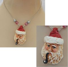 Christmas Santa Claus Pendant Necklace Jewelry Handmade NEW Silver Holiday  #Handmade #Pendant http://www.ebay.com/itm/Christmas-Santa-Claus-Pendant-Necklace-Jewelry-Handmade-NEW-Silver-Holiday-/162301828434?ssPageName=STRK:MESE:IT