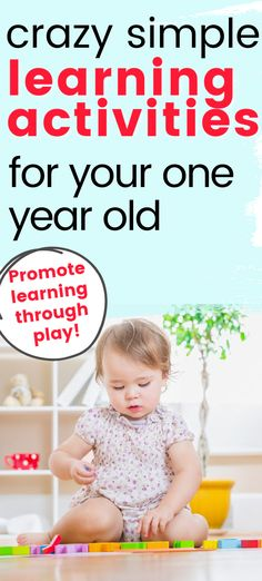 How do one year old's learn best?  Toddlers learn best when we utilize play time and daily routines.  These toddler play ideas are simple to set up and are very low prep. Activities For 1 Year Olds, Learning Activities, Toddler Play, Toddler Learning, Toddler Development, Daily Routines, One Year Old, Learning Through Play, Play Ideas