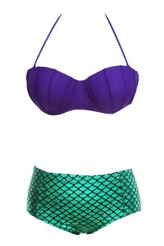 Maillot de bain Ariel la petite sirène mermaid pin-up