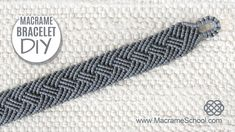 Best 12 Unisex Squares Bracelet Tutorial by Macrame School. Unisex Squares Bracelet Tutorial by Macrame School. This bracelet can be worn by a woman or a man. Please watch more Macrame Bracelets and jewelry tutorials here: … Thank yo – SkillOfKing. Bracelet En Cuir Diy, Macrame Bracelet Patterns, Diy Leather Bracelet, Macrame Bracelet Tutorial, Friendship Bracelets Tutorial, Diy Bracelets Easy, Necklace Tutorial, Macrame Earrings, Macrame Patterns