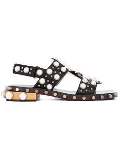 Gucci pearl embellished sandals