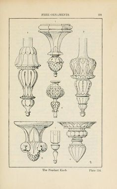 A handbook of ornament Free ornaments the pendant knob page 181