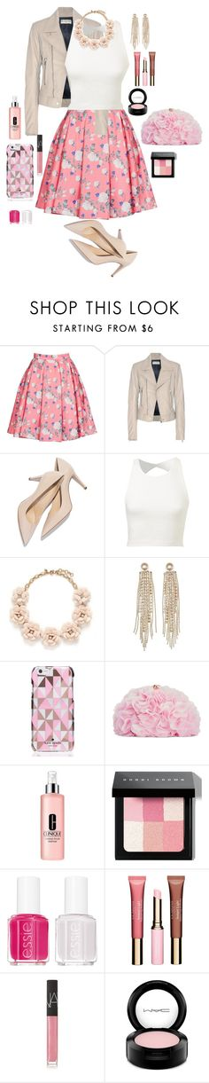 """Untitled #64"" by jmatz on Polyvore featuring ERIN Erin Fetherston, Balenciaga, J.Crew, Charlotte Russe, Kate Spade, Betsey Johnson, Clinique, Bobbi Brown Cosmetics, Essie and Clarins"