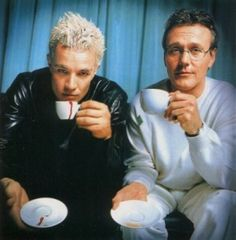 Spike & Giles, from Buffy the Vampire Slayer.