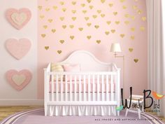 Gold heart decals, gold confetti hearts, wall pattern decals, Gold heart stickers by wordybirdstudios on Etsy https://www.etsy.com/listing/216442634/gold-heart-decals-gold-confetti-hearts