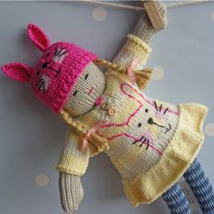 Ethel++Hand+knitted+doll+by+BooBiloo+on+Etsy