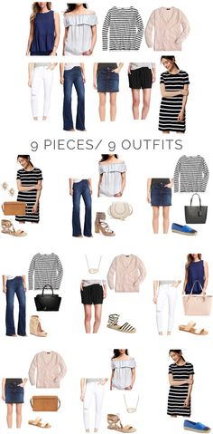 9 pieces/9 outfits for spring | The Good Life For Less | Bloglovin'