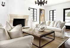 mondern country. light, bright and airy living room.