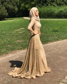 Check out our amazing collection of hijabs at www. Asian Prom Dress, Muslim Prom Dress, Hijab Prom Dress, Muslimah Wedding Dress, Muslim Wedding Dresses, Prom Dresses With Sleeves, Gala Dresses, Lace Dress With Sleeves, Hijab Bride