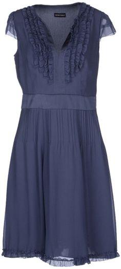 Emporio Armani Blue Kneelength Dress
