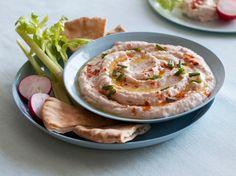 Lighter Creamy White Bean Dip Recipe : Food Network Kitchens :