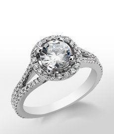 image of blue nile monique lhuillier split halo diamond ring 1.4 carat F color VS1 - Google Search