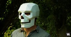 Geometric Skull Mask  - http://www.weirdstuffiwant.com/stuff/geometric-skull-mask Have you ever had the scary feeling of not knowing what to wear on Halloween? You wonder how to create that personae that best suits what you would like to represent. Well, you can now make anything you want and live your life at full blast with the Geometric Skull Mask.