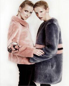 BLKonBLK Issue 7 - Shrimps Junior Jacket and Agnes Coat Fur Coat, Workshop, Jackets, Fashion, Down Jackets, Moda, Atelier, Fashion Styles, Work Shop Garage
