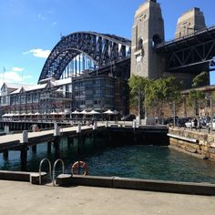 The Rocks. Sydney Australia  Look closely and you can see the people climbing the bridge.