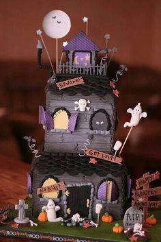 Gâteau maison hantée