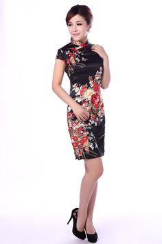 Handmade Chinese Cheongsam Dress Fashionable Retro by sweetmarry