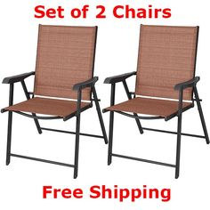 Patio Metal Folding Chair Camping Chairs Set Deck Beach Outdoor Furniture Pool  #PatioMetalFoldingChair