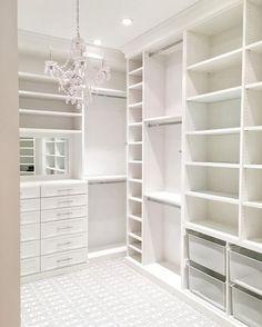 45 Brilliant Closet Organization Ideas - Page 2 of 45 - VimDecor closet designs; Master Closet Design, Walk In Closet Design, Master Bedroom Closet, Closet Designs, White Bedroom, Master Closet Layout, Bedroom Closets, Bedrooms, Closet Rooms
