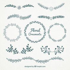 Beaux graphismes floraux gratuits