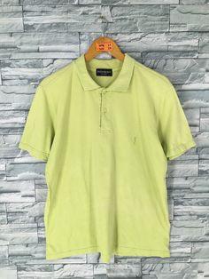 bdedefa3ca3 YVES SAINT LAURENT Polo Shirt Medium Vintage 90's Ysl Saint Laurent Saint  Laurent Paris Streetwear Polos Green Casual Polo Shirt Size M