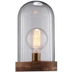 Lampe in Glockenform aus Glas und ...