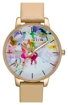 Add a splash of color to your wrist candy with this adorable watch from Ted Baker. Paired with a neutral strap, this will be an everyday go-to.