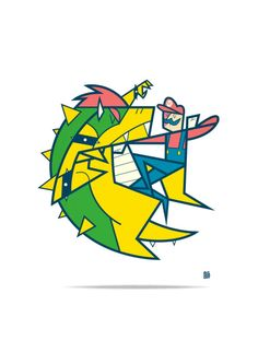 Gaming Fights series by Ale Giorgini / StoreA4 prints, limited...