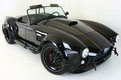 Backdraft Racing - Tuxedo Black with Black Stripes (Gold Outline)