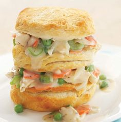 Theres nothing better than walking in the door and smelling dinner! Let Slow-Cooker Chicken Pot Pie simmer away all day. Served with freshly baked biscuits, its comfort in a bowl! Crock Pot Slow Cooker, Crock Pot Cooking, Slow Cooker Chicken, Slow Cooker Recipes, Crockpot Recipes, Chicken Recipes, Crockpot Dishes, Great Recipes, Favorite Recipes