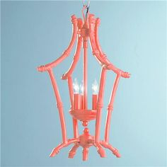Coral Bamboo Lantern, Shades of Light - $189