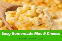 Homemade Macaroni and Cheese. Easy to make and so much better than anything from a box.
